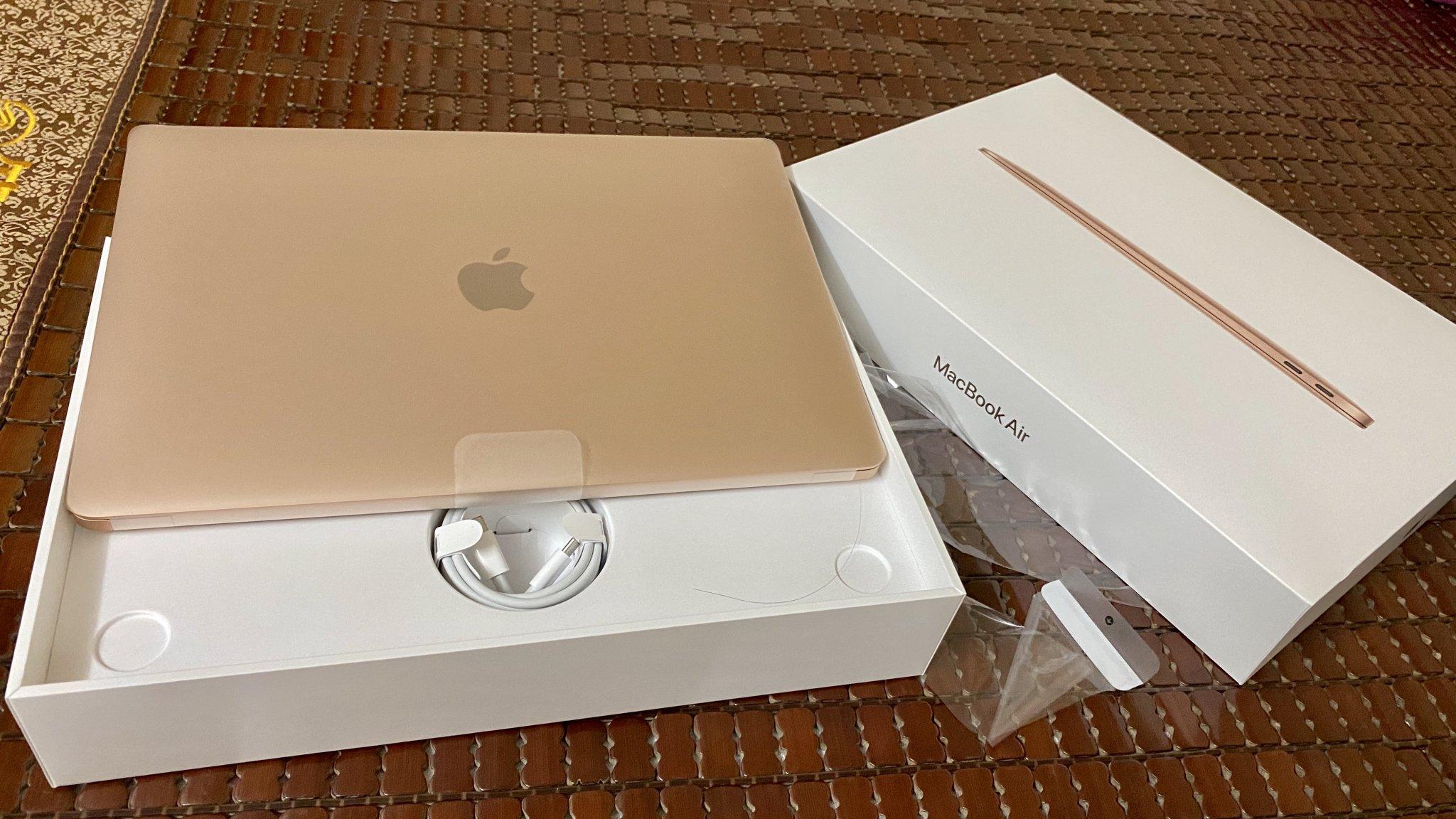Macbook Air 2020 Gold mới 99.99% fullbox BH FPT 9/2021 ...