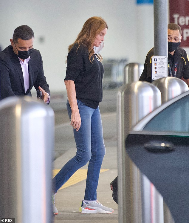 Caitlyn Jenner arrives at LAX after entering the Big ...