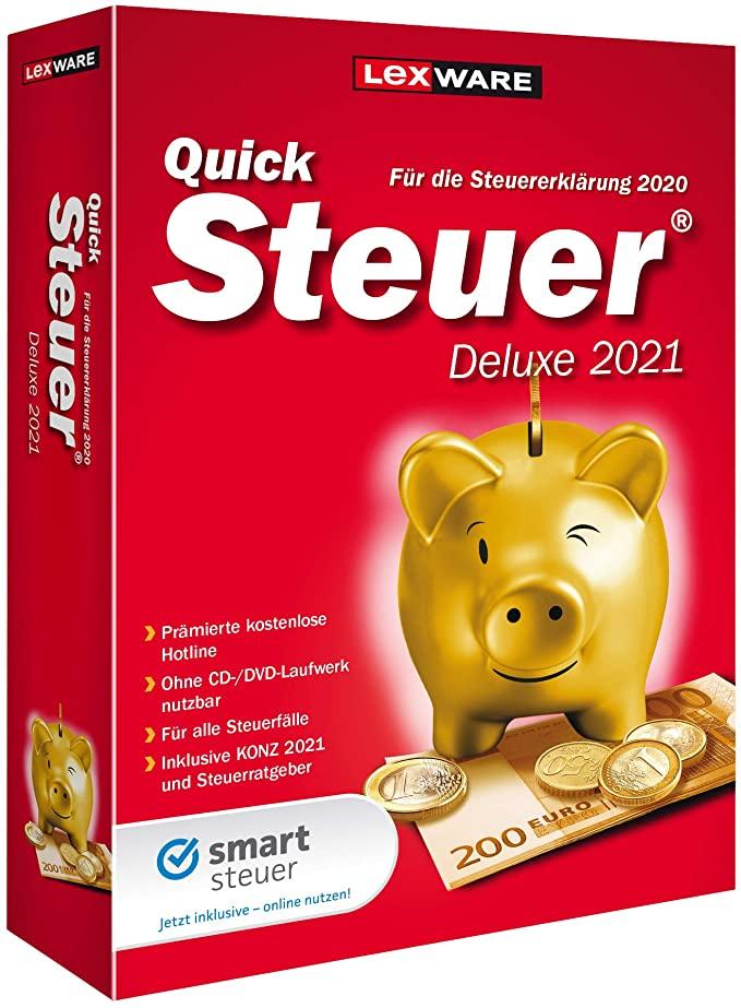 Lexware QuickSteuer Deluxe 2021 für das Steuerjahr 2020 ...