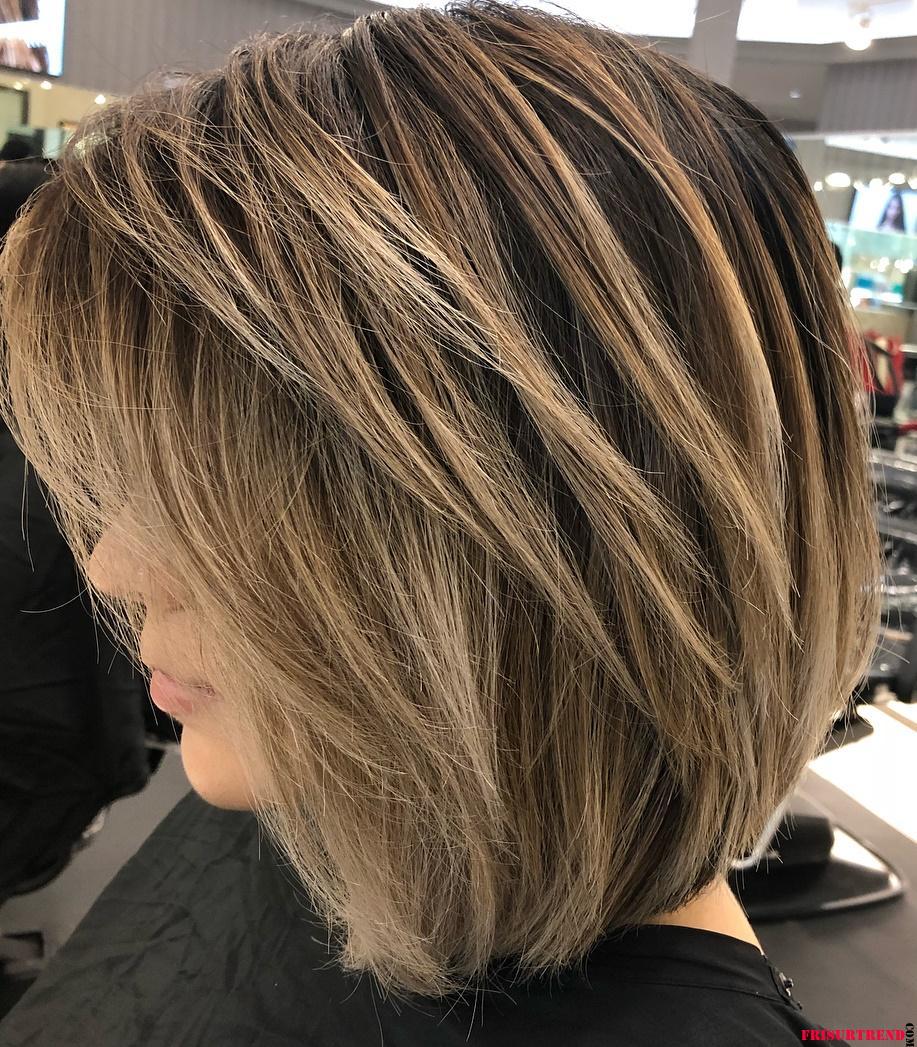 Geschichtete-Bob-Frisuren-2021 - Frisuren Trend