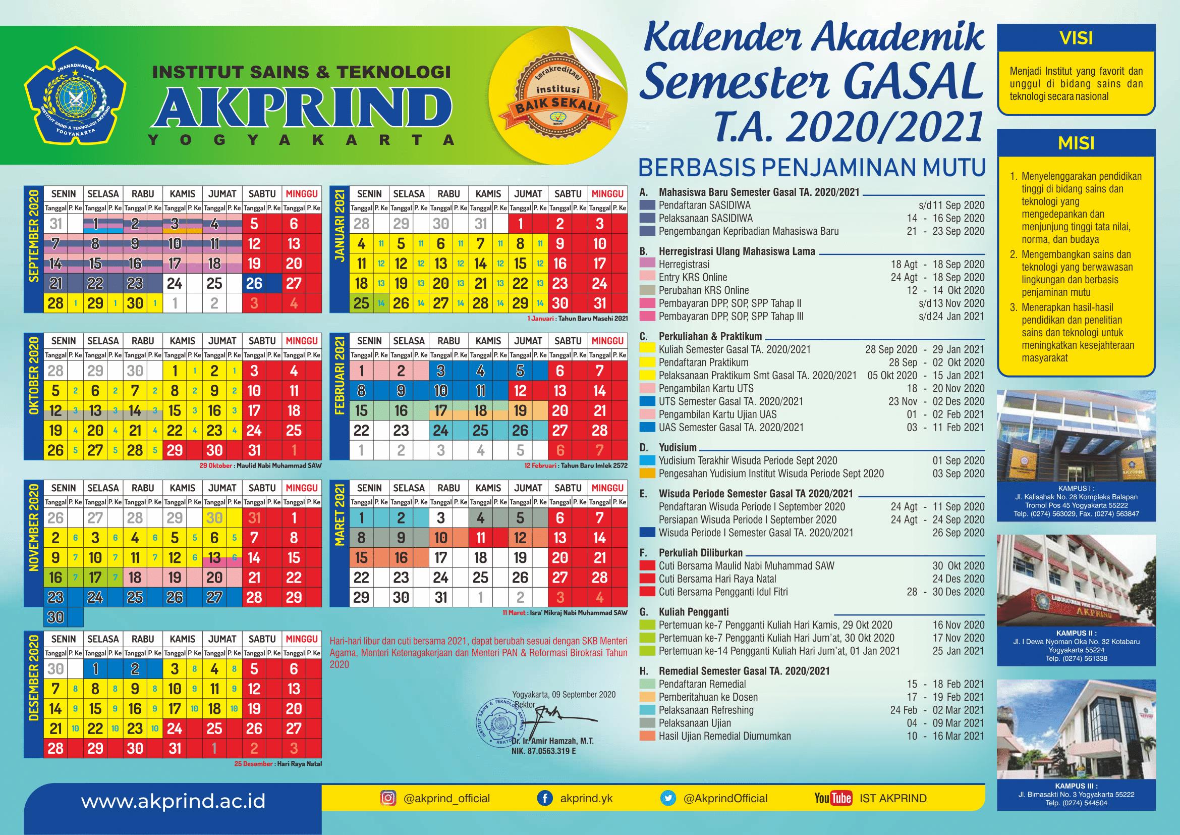 Kalender Akademik Unnes 2020 2021