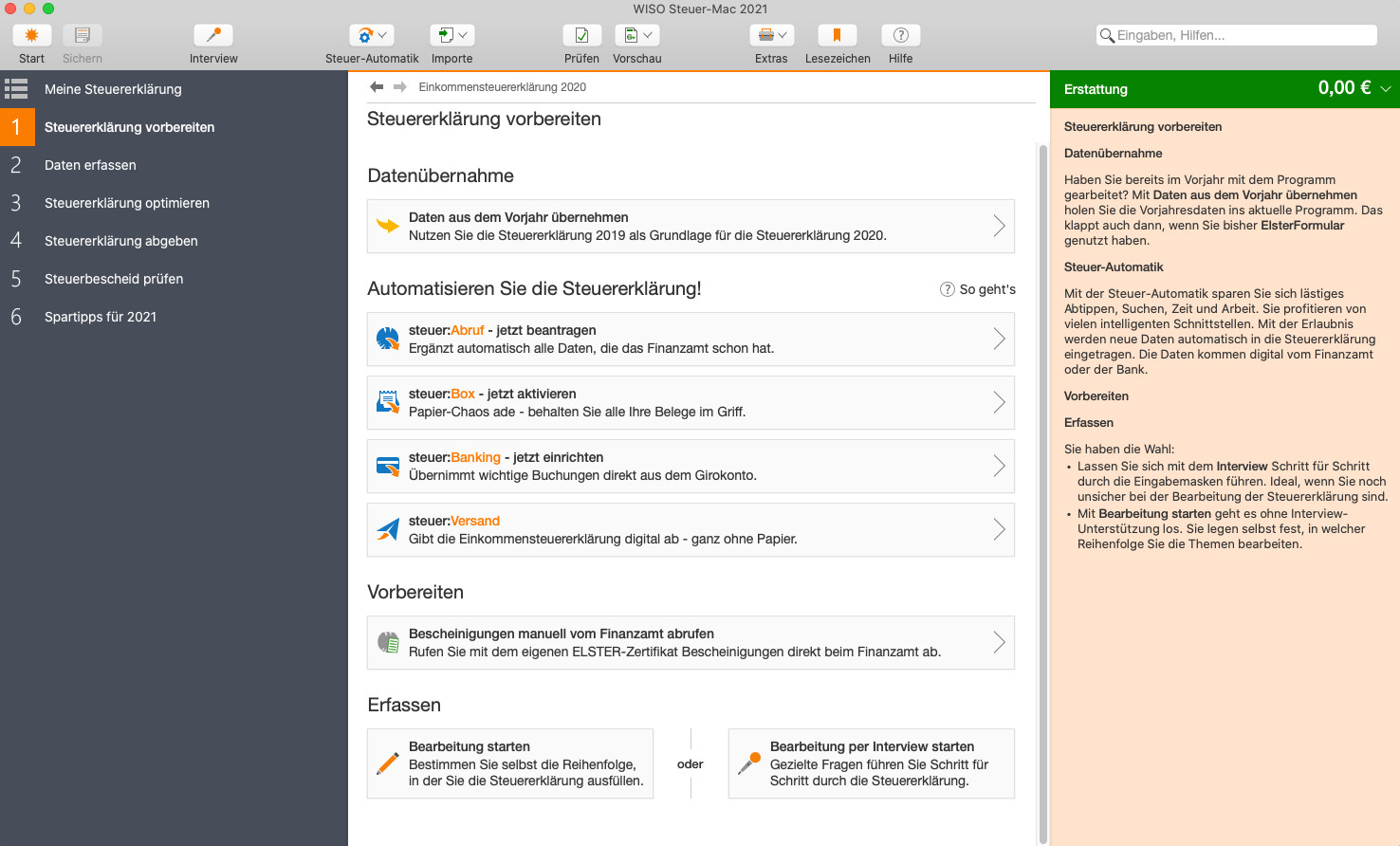WISO Steuer 2021 (Mac) 11.02 - Download - COMPUTER BILD