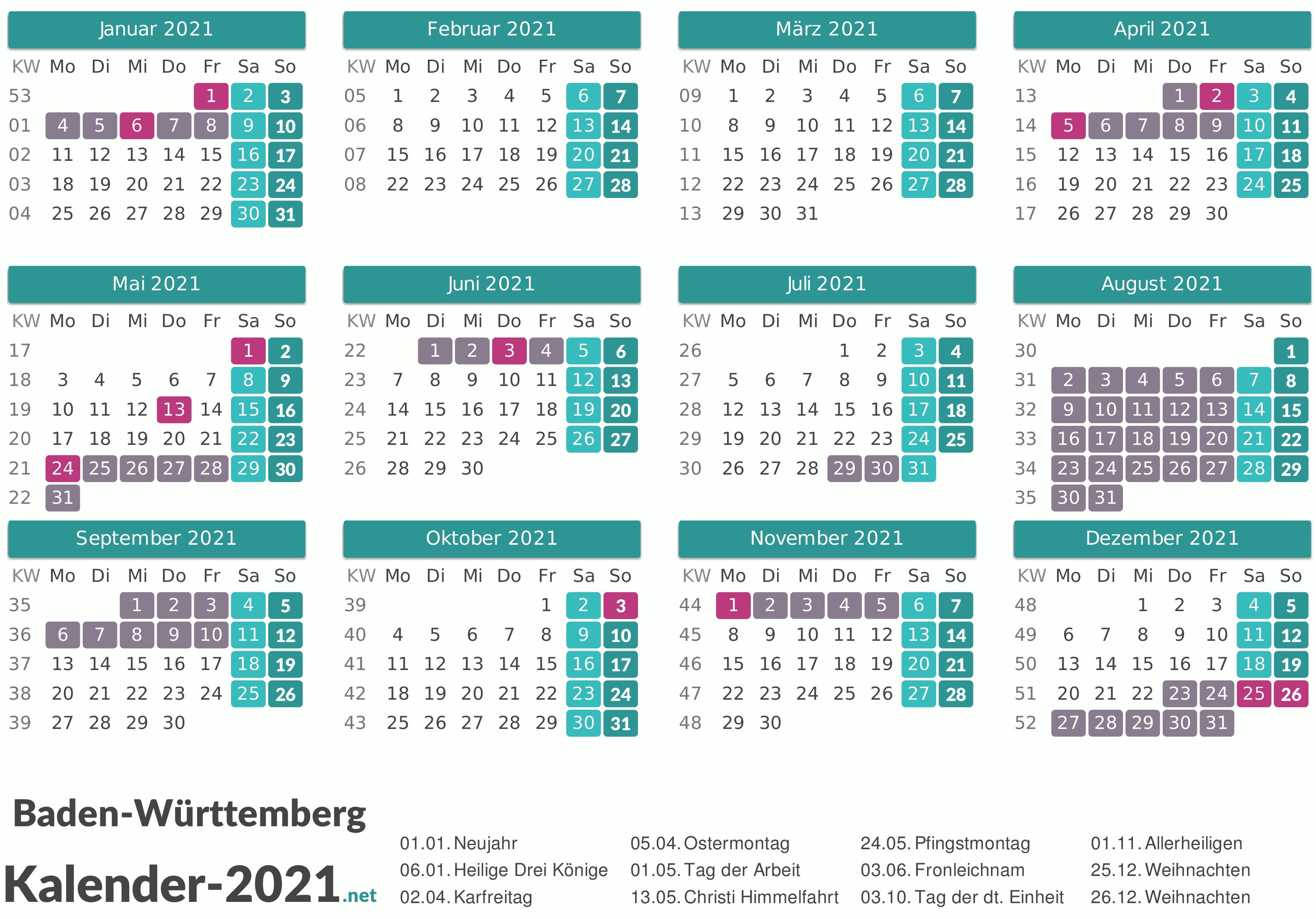 Ferien Bw 2021 : Schulferien In Google Kalender ...