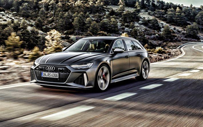 Télécharger fonds d'écran 2021, Audi RS6 Avant, vue avant ...