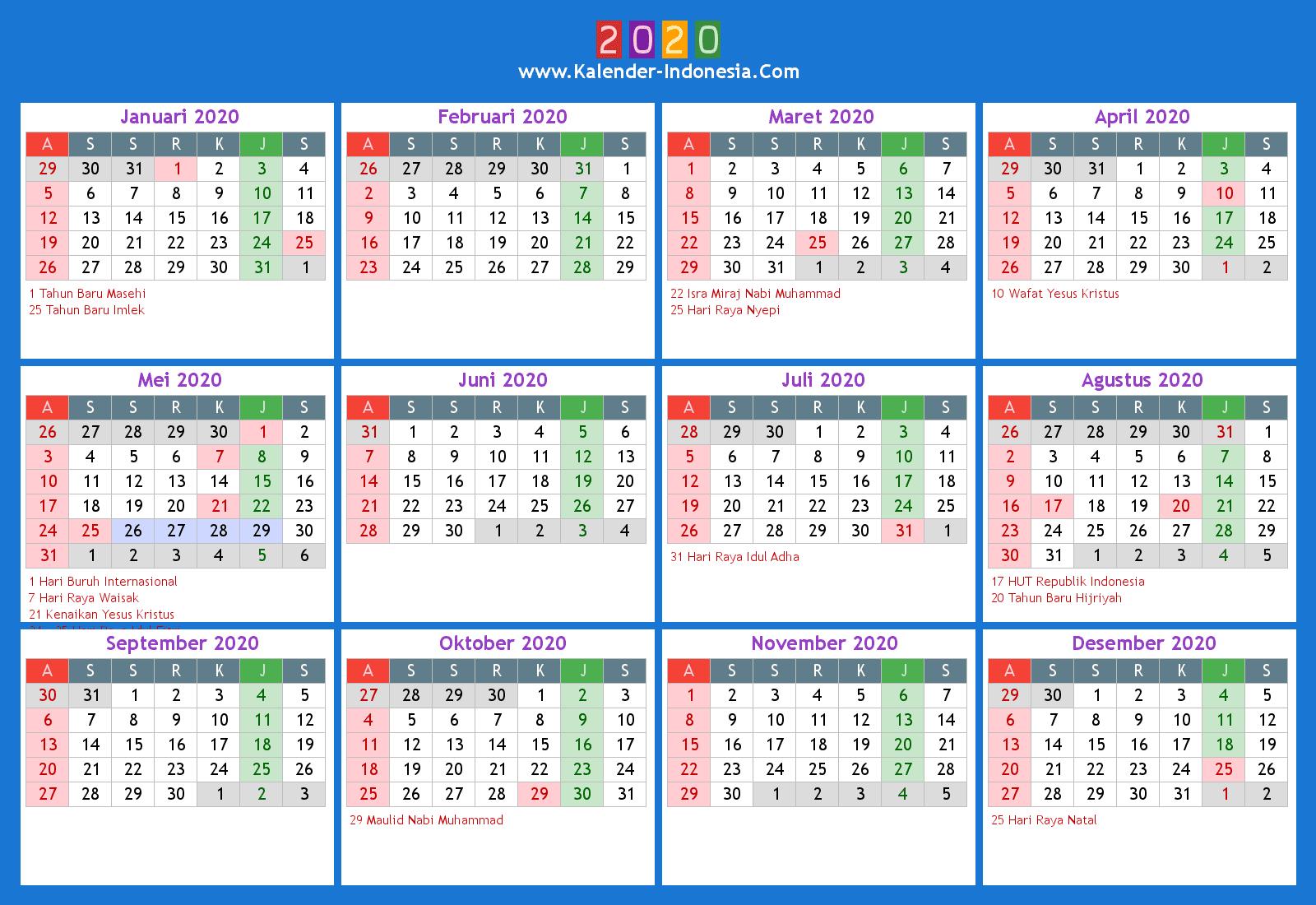 Kalender Indonesia Online: 2020