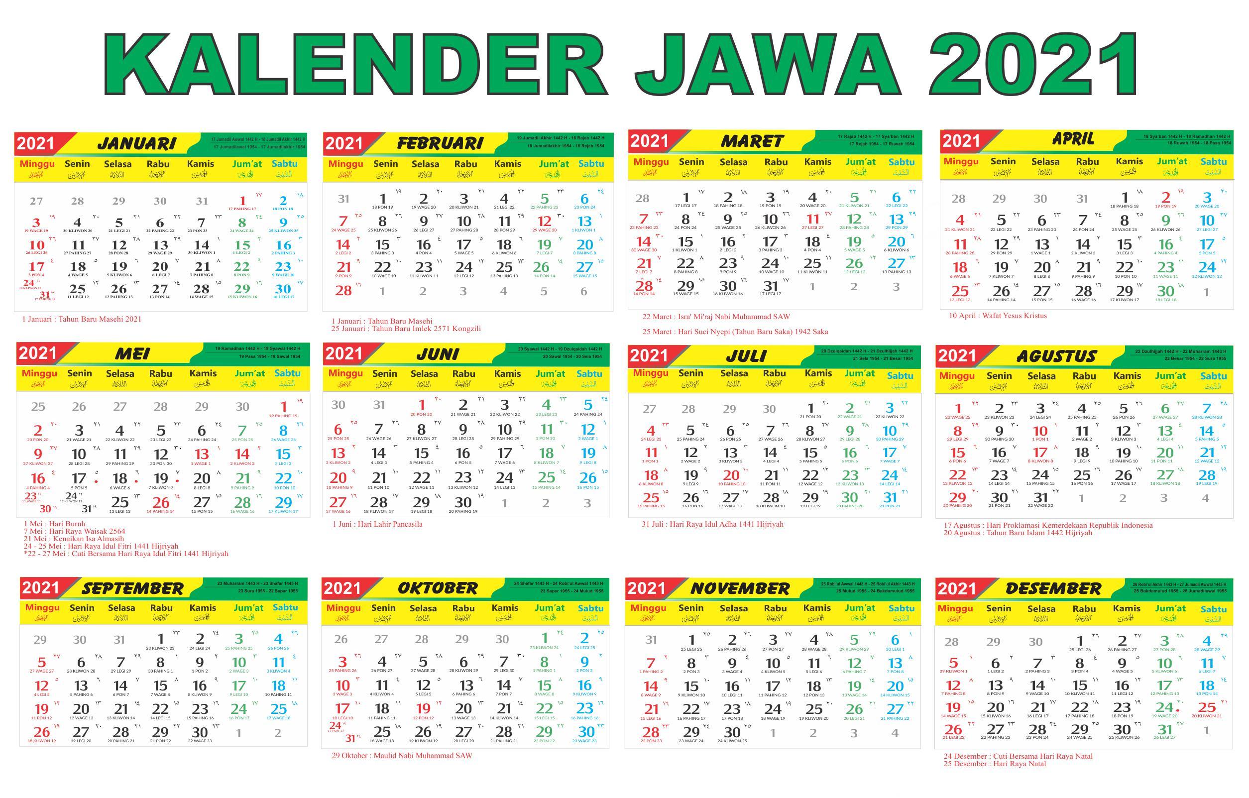 Lebaran Kalender 2021 Hari Raya Idul Fitri
