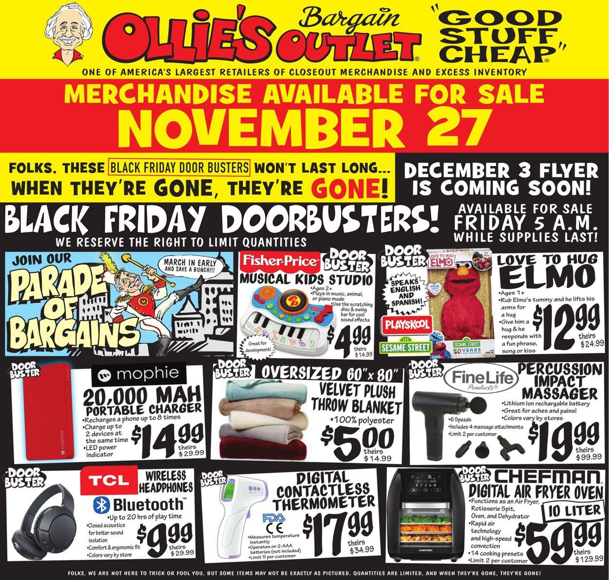 Ollie's Black Friday Ad Sale 2021