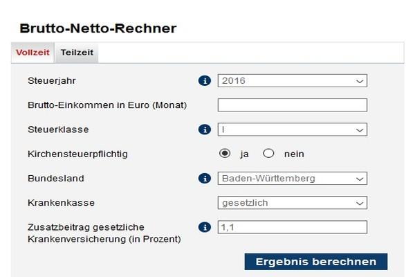 Brutto-Netto-Rechner Web App Download | Freeware.de