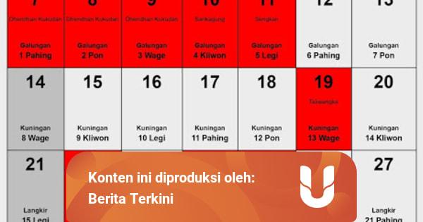 Kalender Jawa November 2021 beserta Tanggal Baik untuk ...