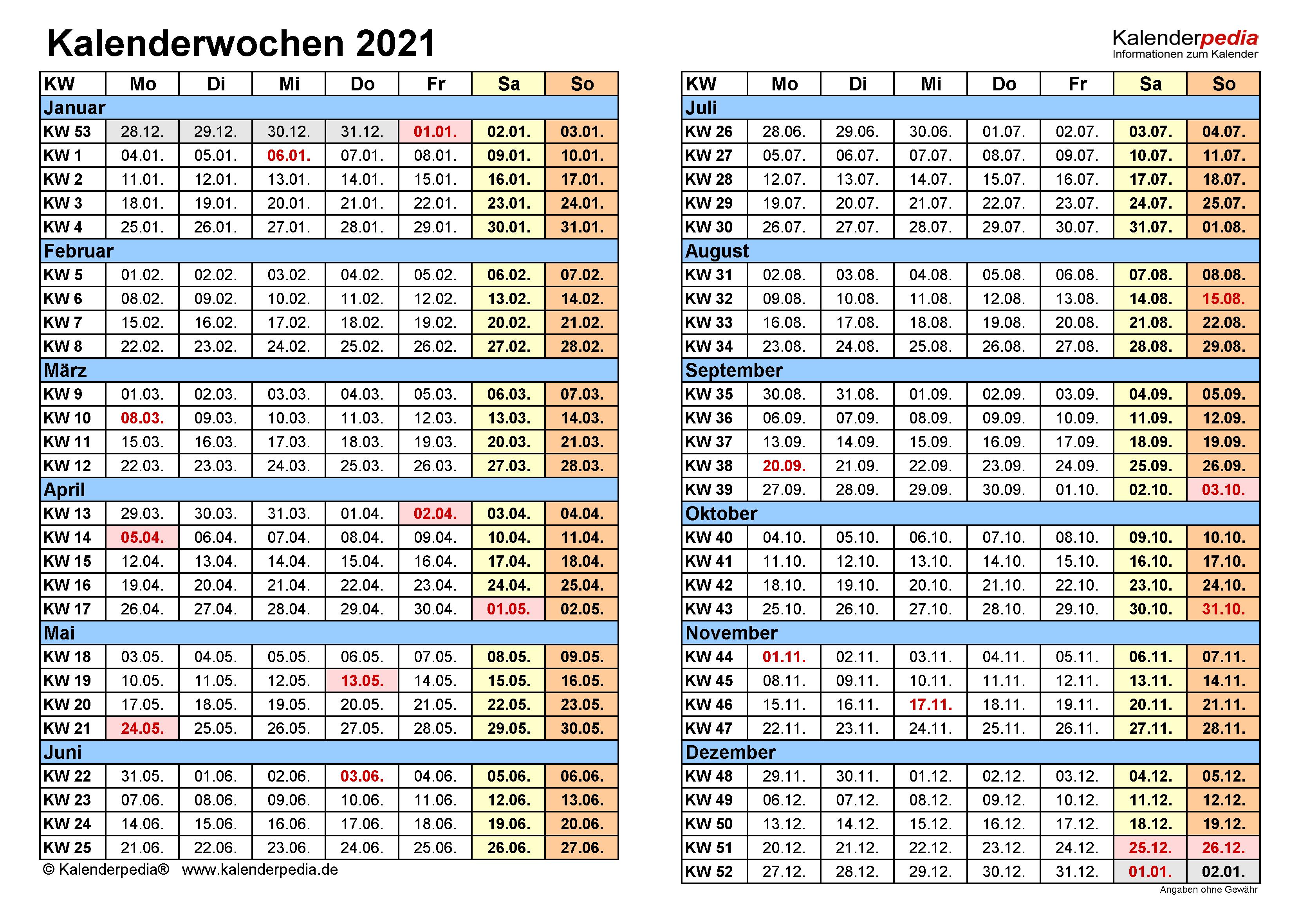 Aktuelle Kalenderwoche 2021 / Iphone Kalenderwochen ...