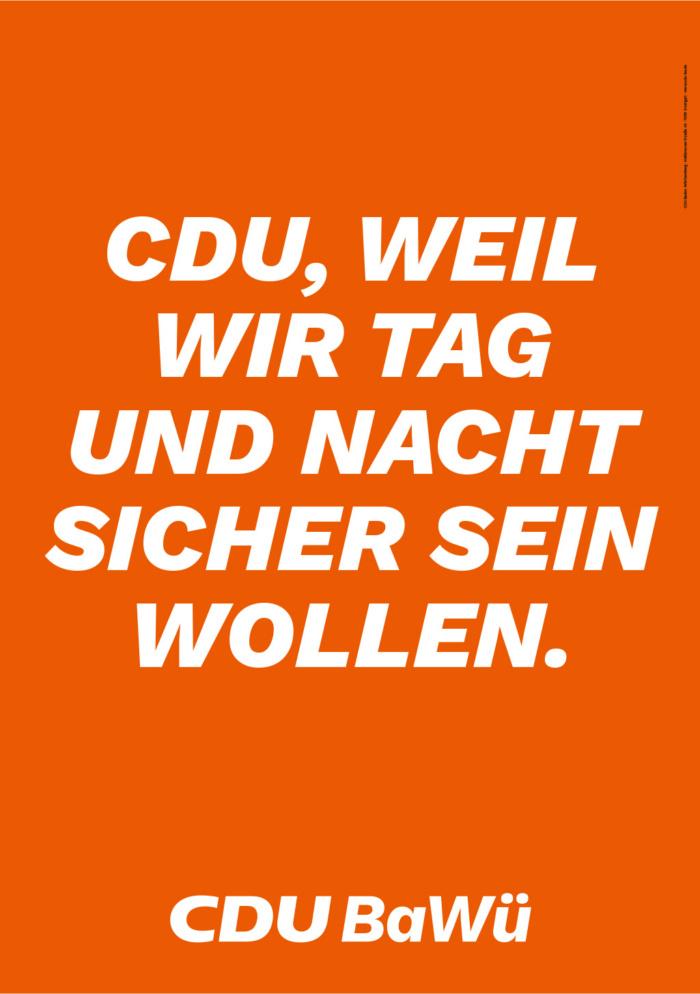 Landtagswahl Baden-Württemberg 2021 CDU - Plakat - Design ...