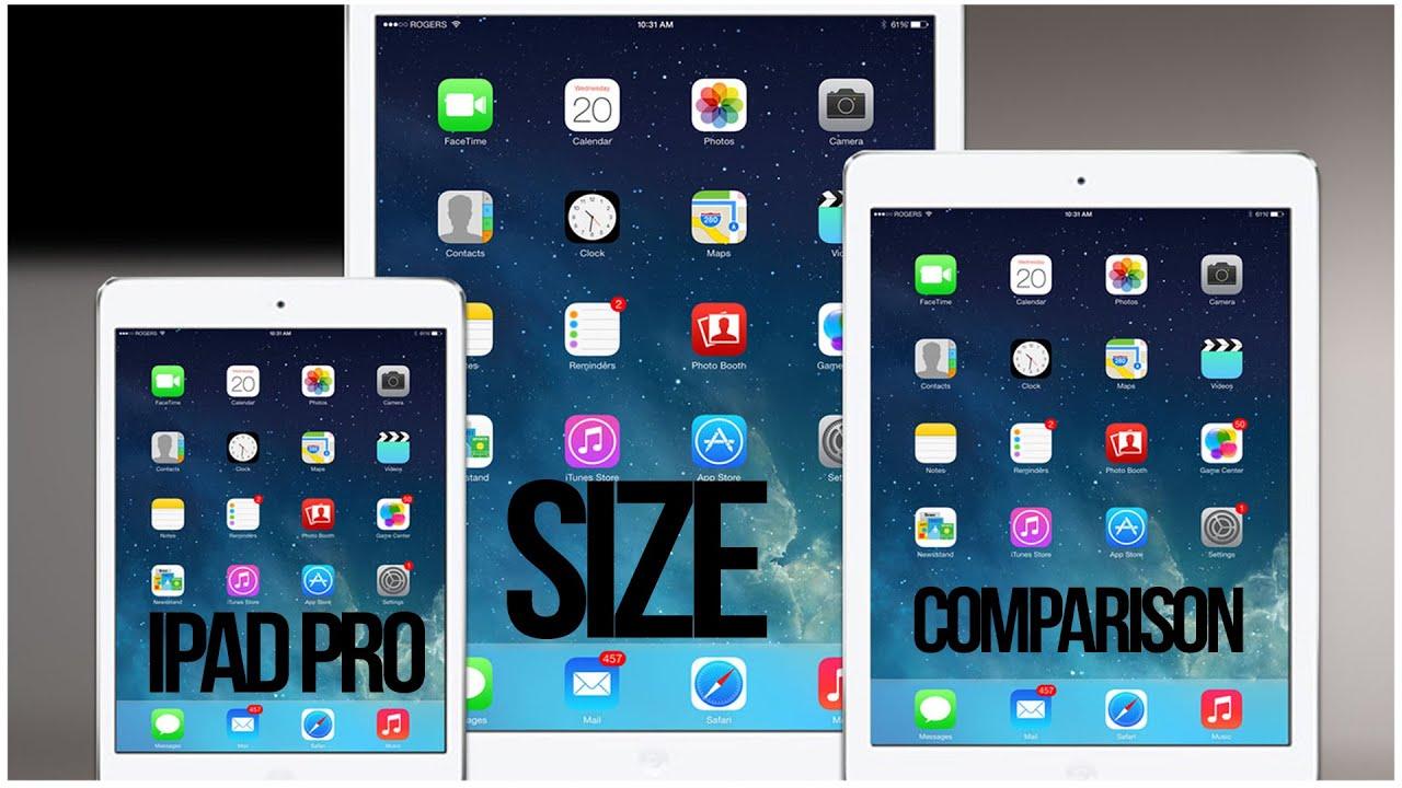 iPad Pro and iPad Air 2 Size Comparison - iPad Pro Size ...