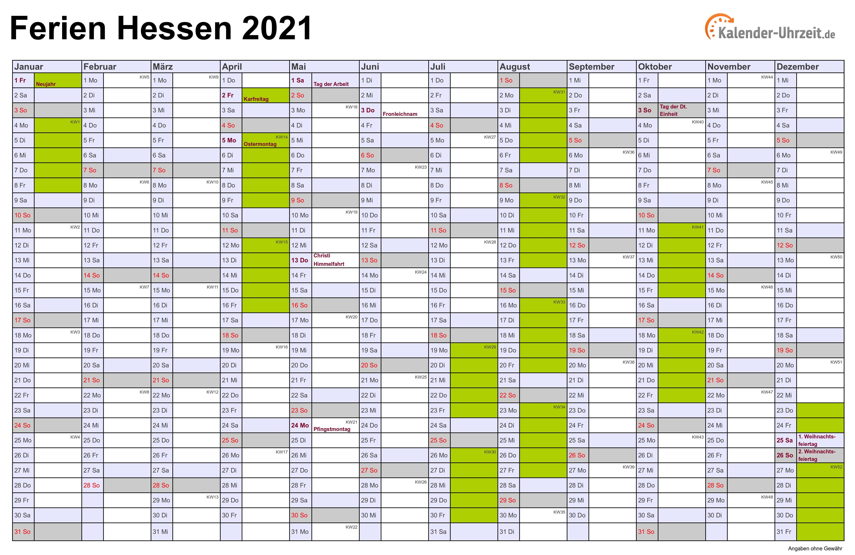 Schulferien in hessen 2020 | Ferien Hessen 2020. 2020-04-06