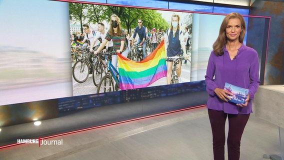 CSD 2021: Fahrraddemo zieht durch die Hamburger Innenstadt ...