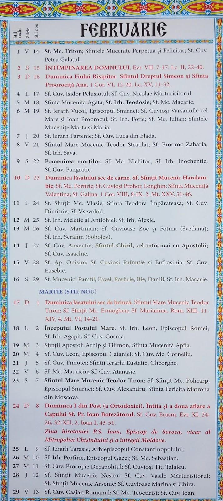 Calendar Ortodox 2021 Pdf Download / Calendar Ortodox ...
