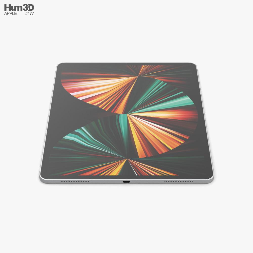 Apple iPad Pro 12.9-inch 2021 Silver 3D model ...