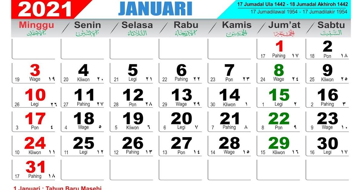 Download Kalender Masehi 2021