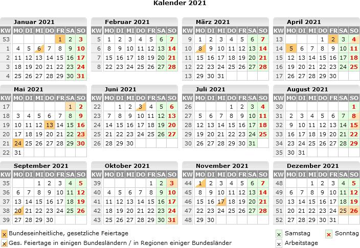 Schulkalender 2021 Zum Ausdrucken
