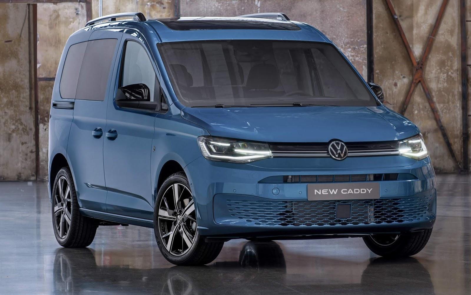 Novo VW Caddy 2021: o Golf Mk8 em plataforma van - fotos ...