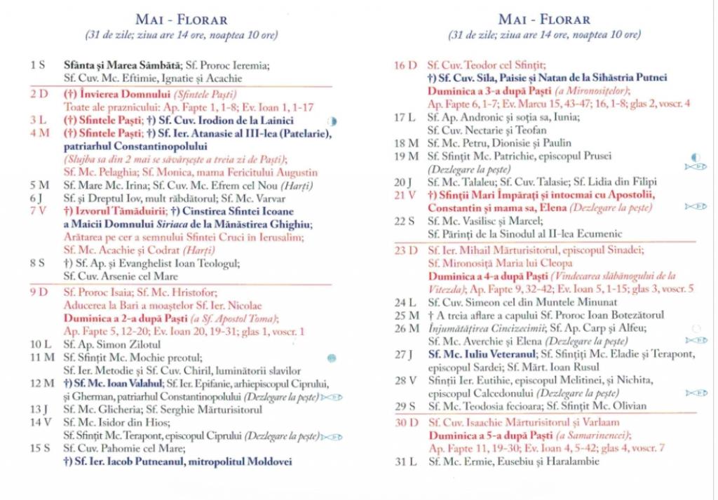 Calendar Ortodox 2021 - Sărbători Religioase Din Fiecare ...