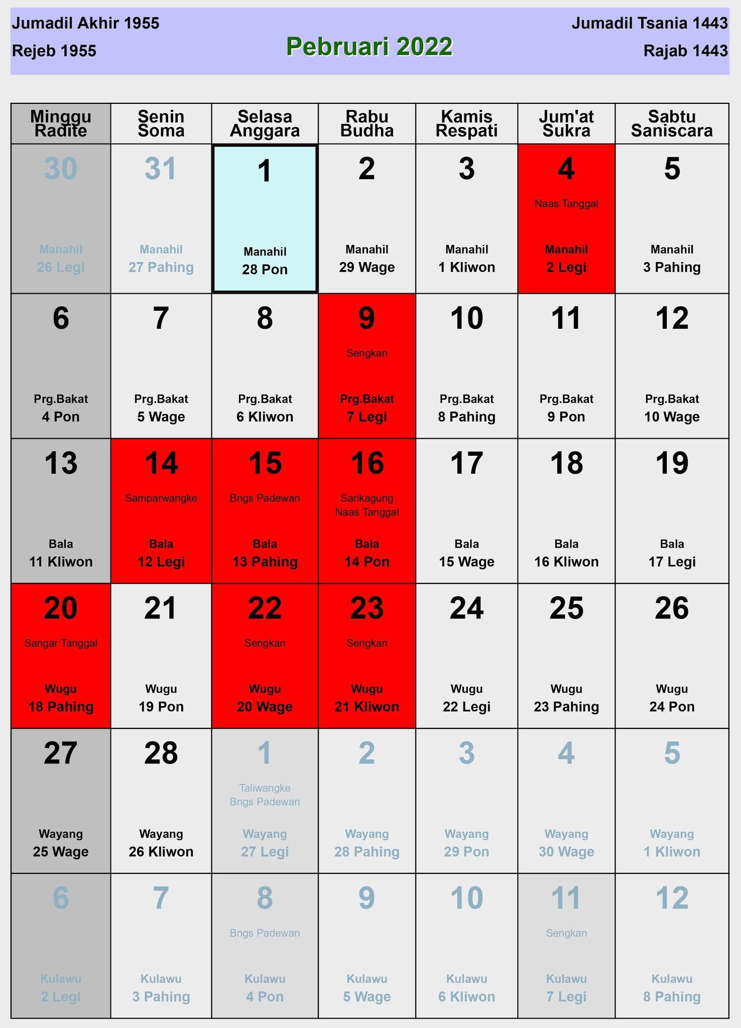Kalender 2022 Lengkap Dengan Tanggal Merah - Assalamu ...