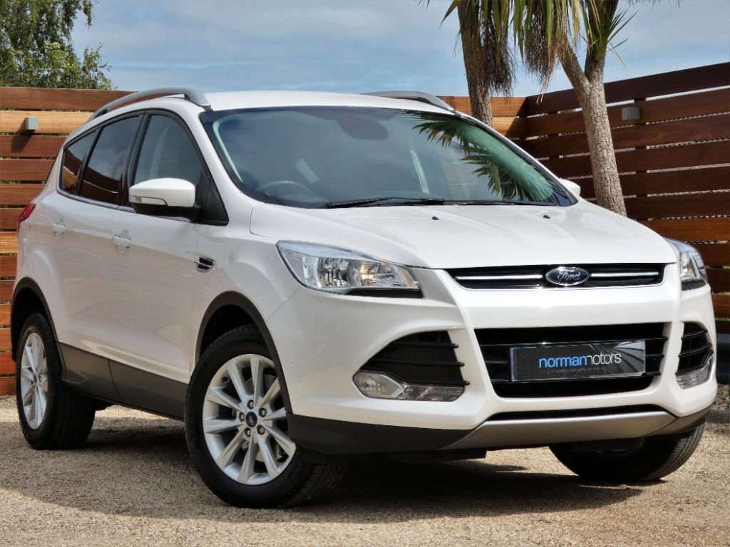 Used Platinum White Ford Kuga for Sale   Dorset
