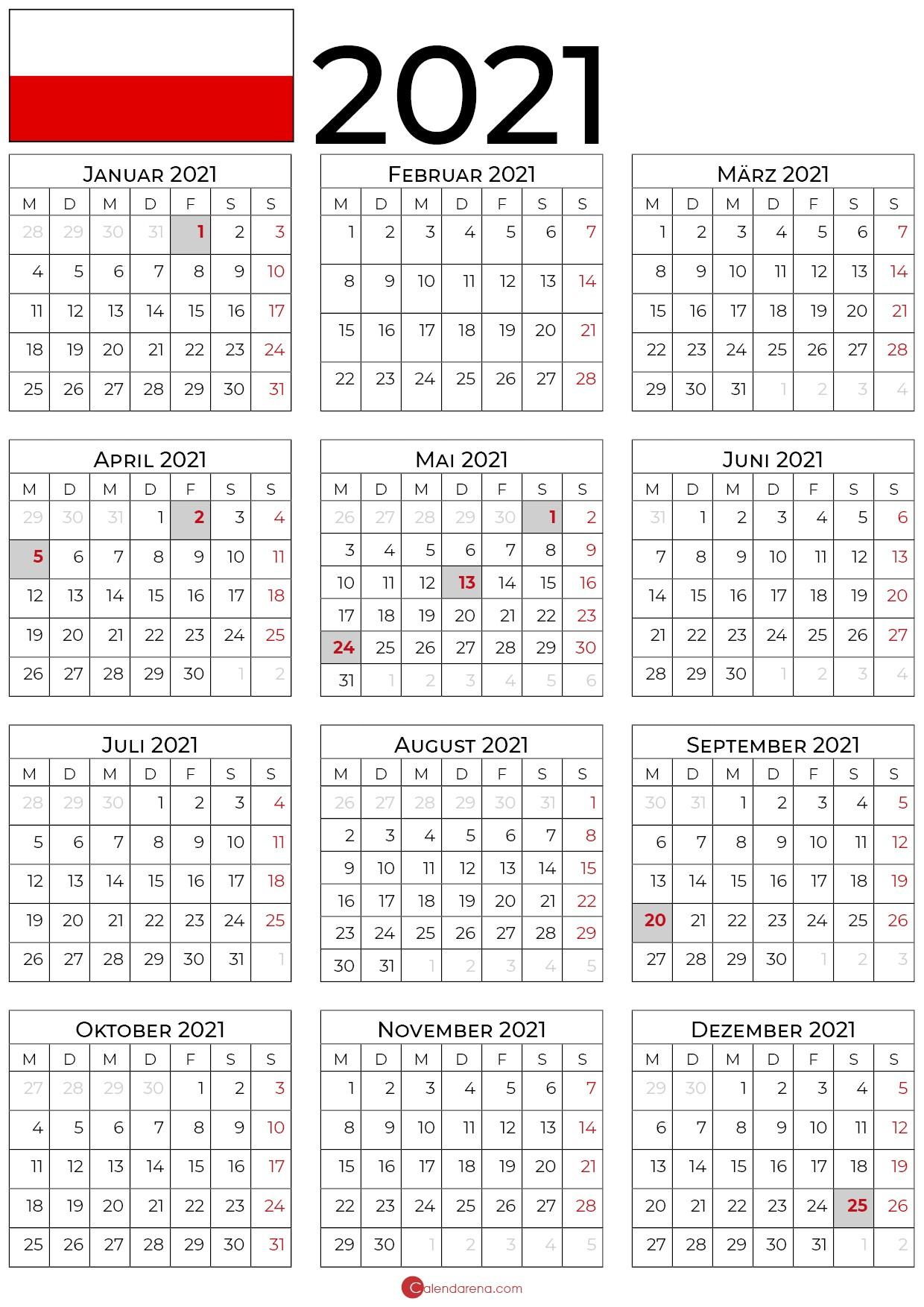 Kalender 2021 Thüringen Zum Ausdrucken Als PDF