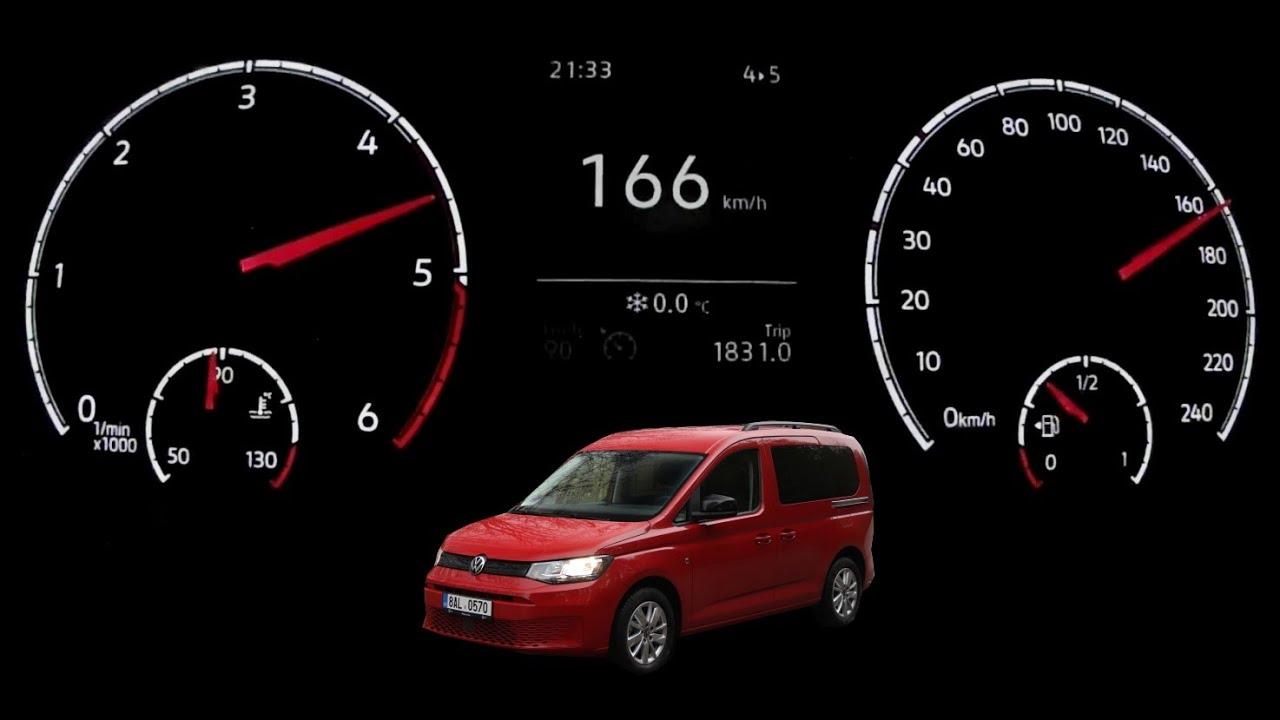 Acceleration test | 2021 Volkswagen Caddy 2.0 TDI 75 kW ...