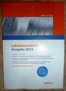 LOHNSTEUERTABELLE Ausgabe 2021 Monat/Tag Rehm Verlag | eBay