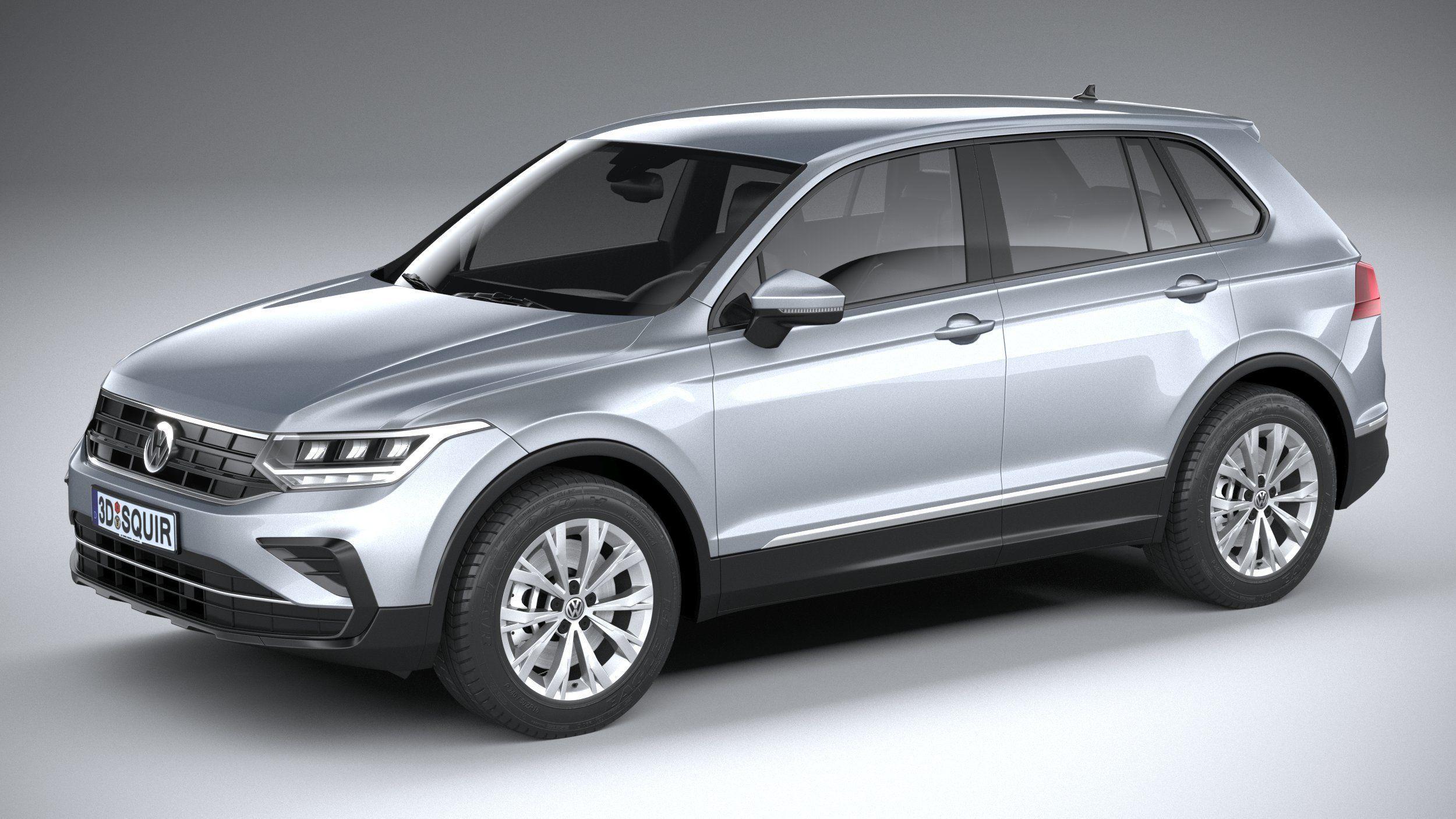 Volkswagen Tiguan 2021 3D model | CGTrader