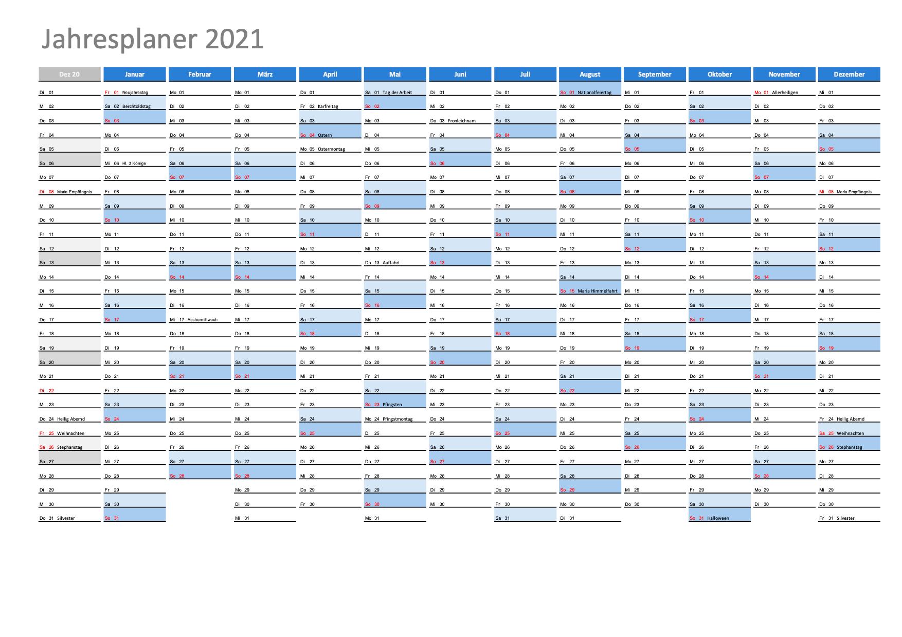 Wochenkalender 2021 Zum Ausdrucken : April 2021 Kalender ...