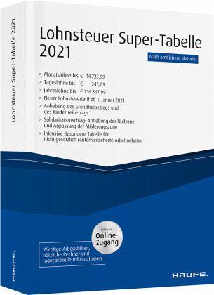 Lohnsteuer-Supertabelle 2021 plus Onlinezugang - Fachbuch ...