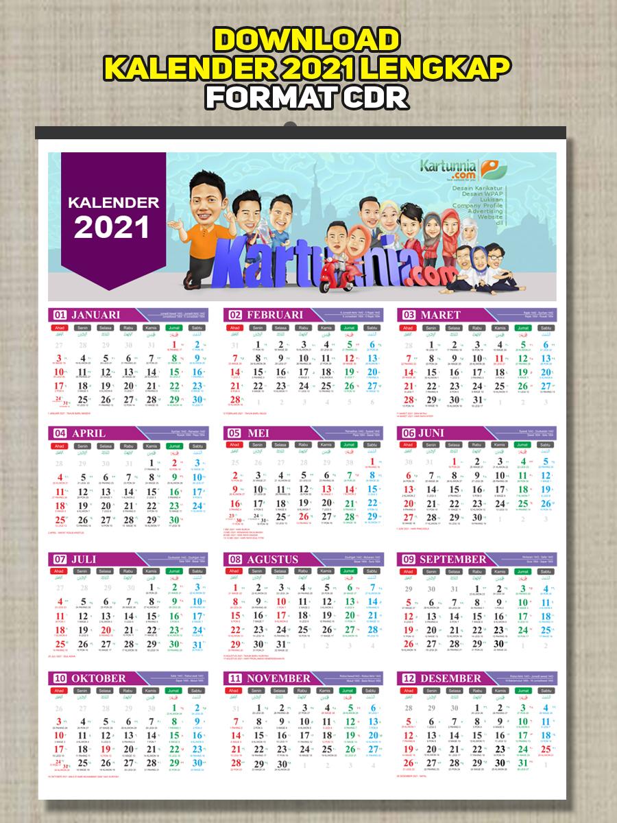 Gratis Download Kalender 2021 cdr - Kartunnia.com