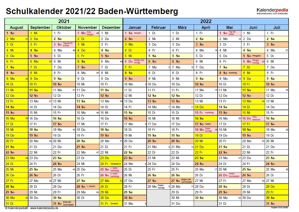 Ferien Bw 2021 - Ferienplan / Wann ist ostern 2021 in ...