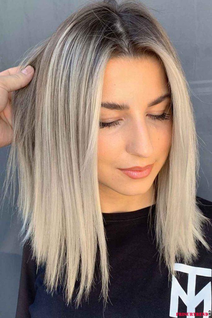 Schulterlange-Haarschnitte-2021 - Frisuren Trend