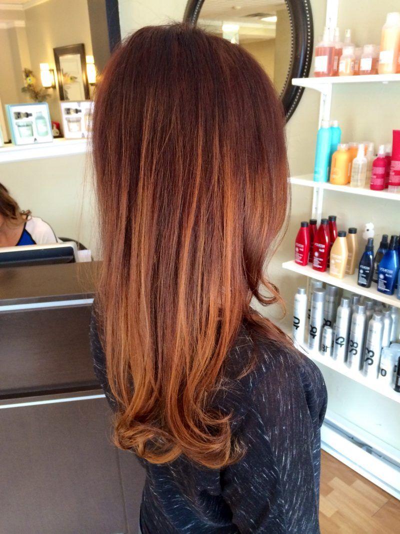 Trend 2016 ist kupferbraun Haarfarbe: 36 Frisuren ...