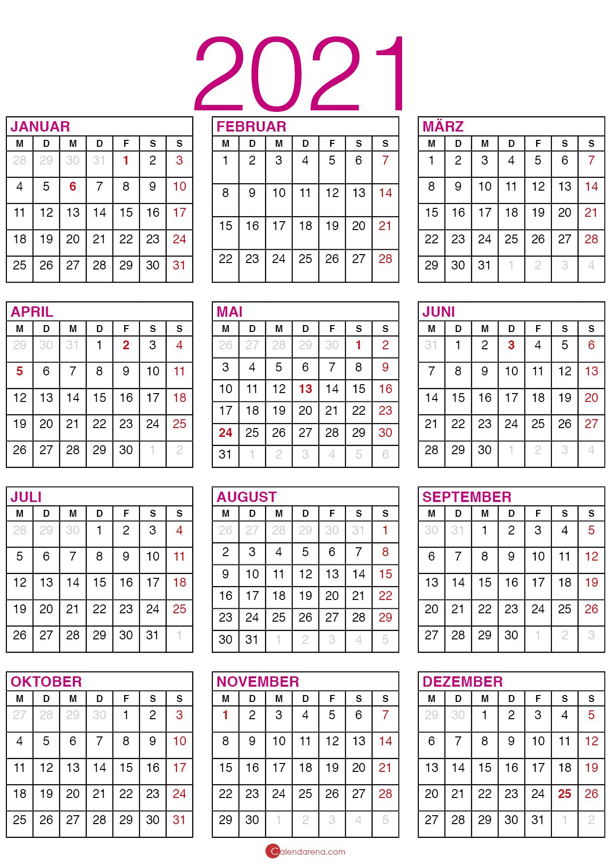 kalender 2021 bayern | Kalender, Kalender erstellen ...