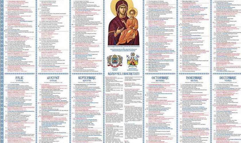 Calendar ortodox aprilie 2021. Cele mai importante ...