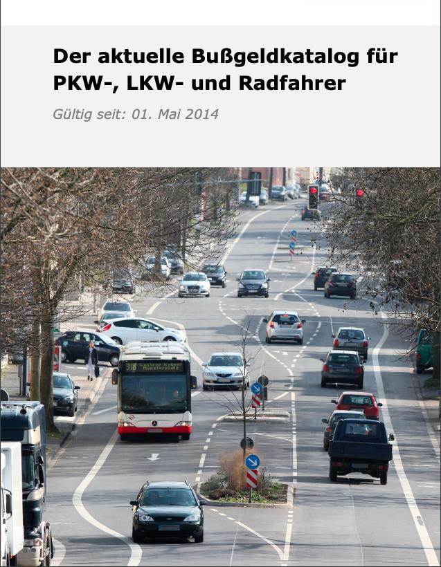 Bußgeldkatalog 2021 - Bußgeld & Punkte im Straßenverkehr