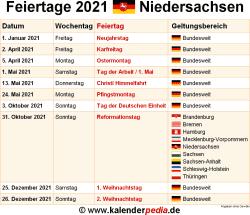 Kalender 2021 Thüringen Feiertage / Kalender 2021 ...