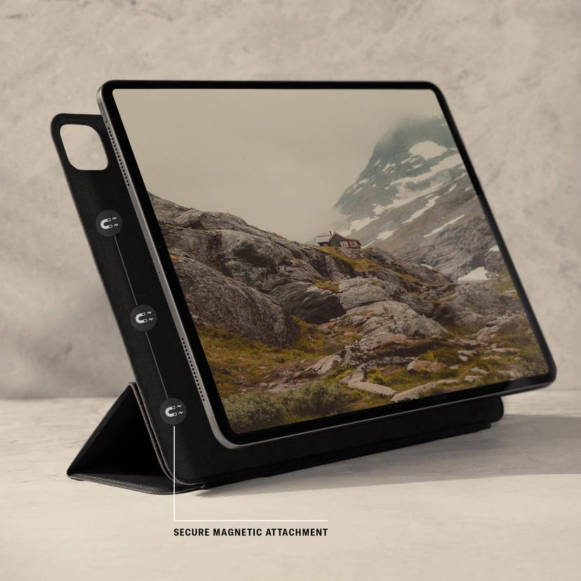 "Apple iPad Pro 12.9"" (5th Gen, 2021) Leather Magnetic Case ..."