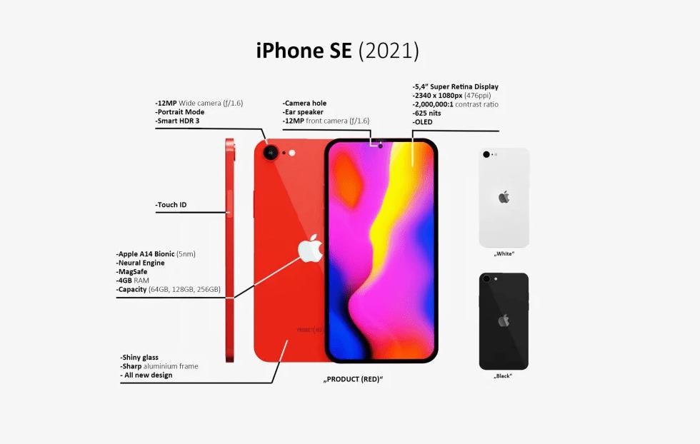 iPhone SE 2021 Concept Image Shows Punch-hole Design ...