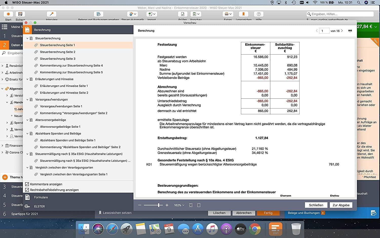 WISO Steuer-Mac 2021 - Steuererklärung für 2020 rund 40% ...