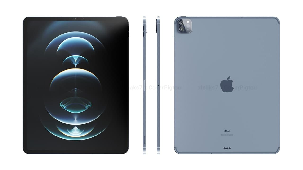 New renders of upcoming Apple 12.9-inch iPad Pro 2021 ...