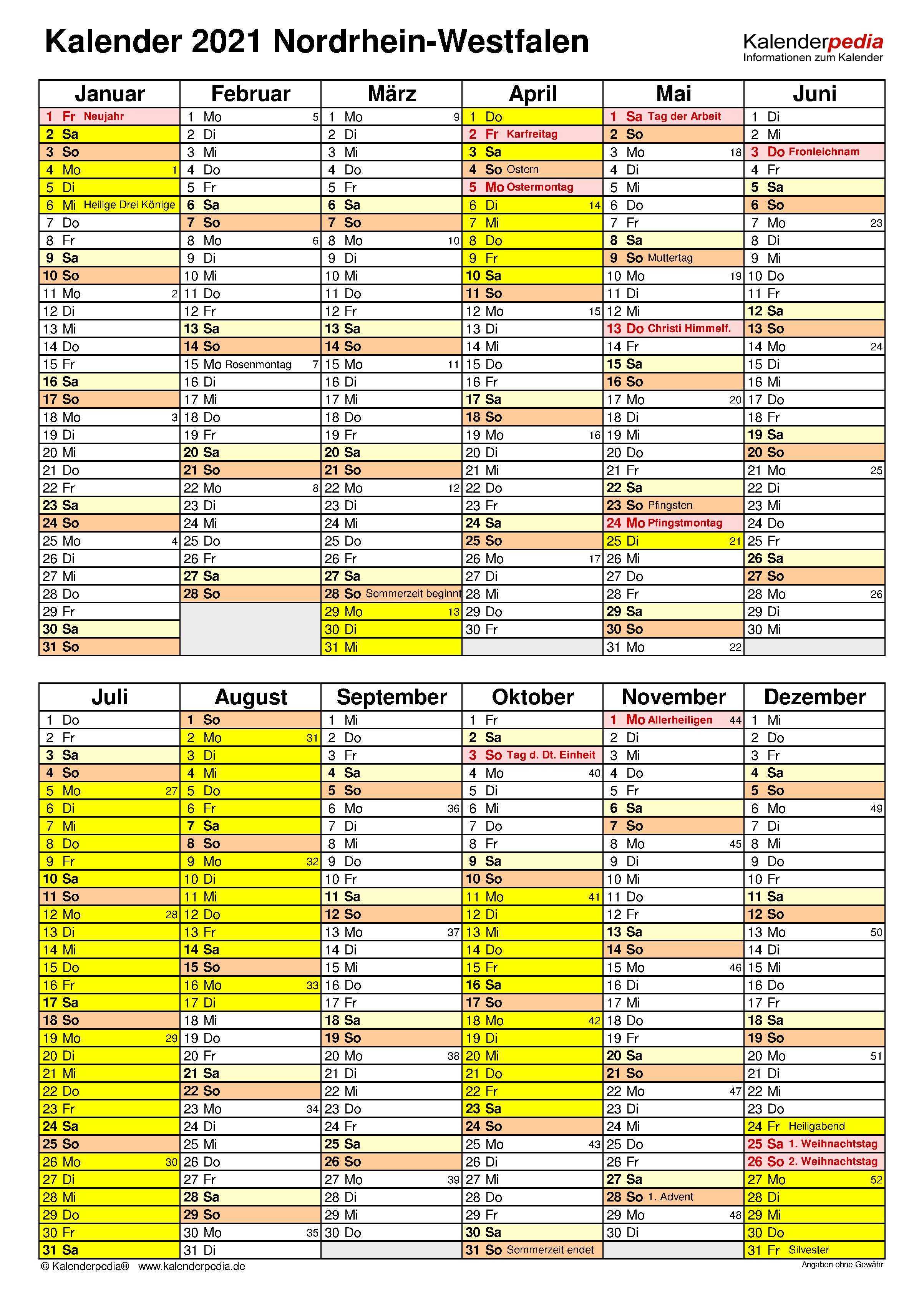 Weihnachtsferien Nrw 2021 / Kalender 2020 2021 ...