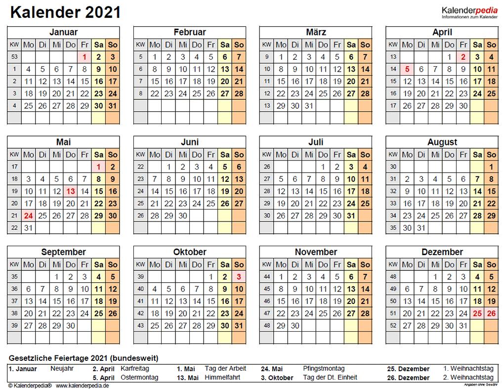 Kalenderblatt 2021 Mit Ferien Nrw / Kalender 2022 - Das ...