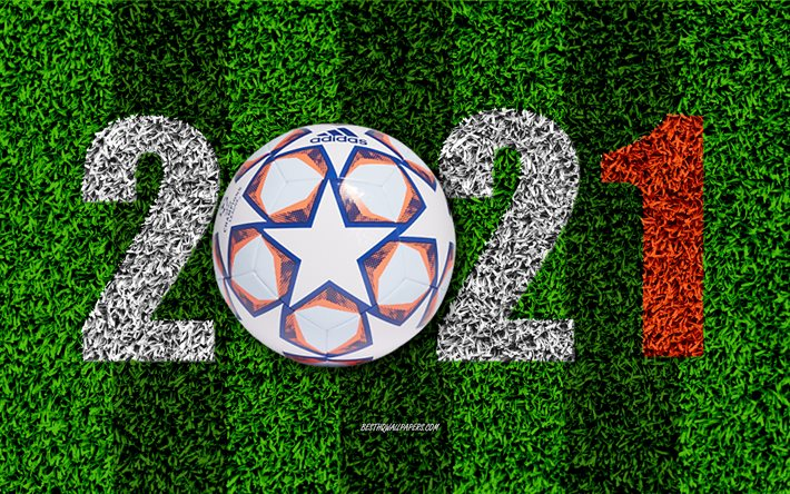 Download wallpapers Champions League 2021, football field ...