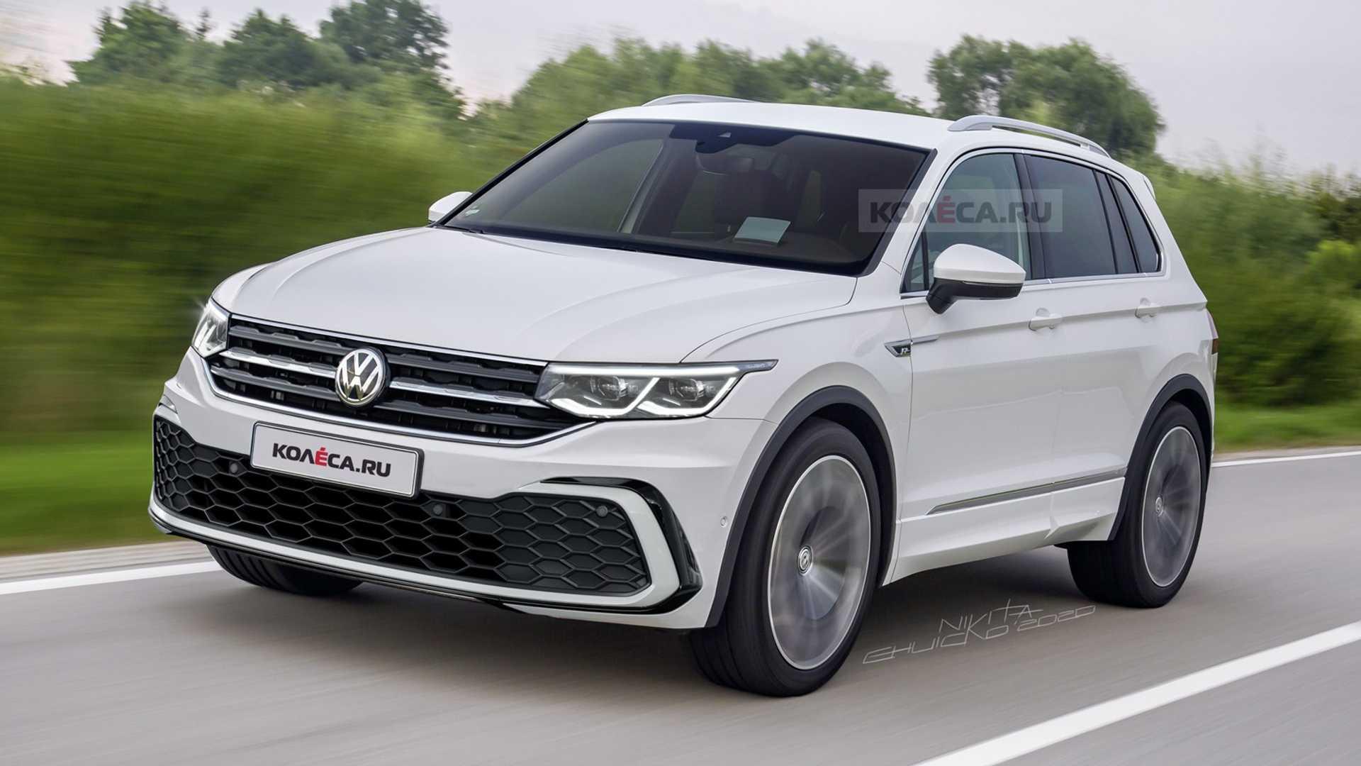 Projeção: VW Tiguan 2021 mostra novo visual baseado no Golf 8