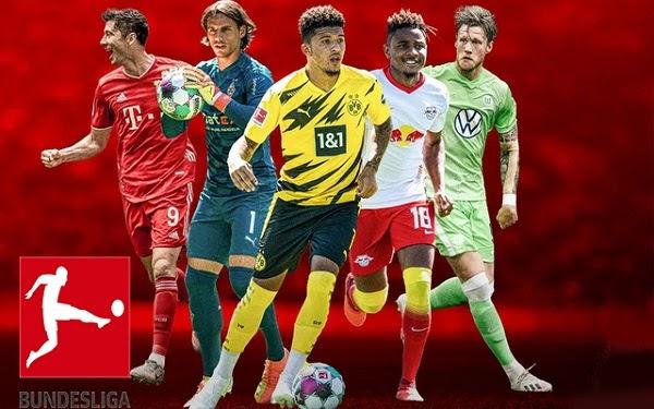Bundesliga 2020/2021 fixtures - Round 6   Table & Results