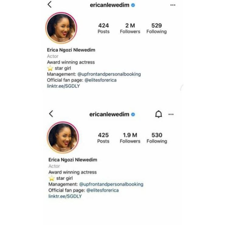 BBNaija Star, Erica Reacts After She Was Unfollowed For ...